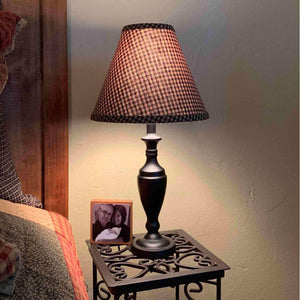 Stonecreek Black Lamp with Black Gingham Shade