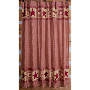 Colonial Star Burgundy Shower Curtain