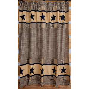Jamestown Black Shower Curtain