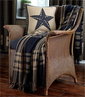 Sturbridge Black Woven Throw