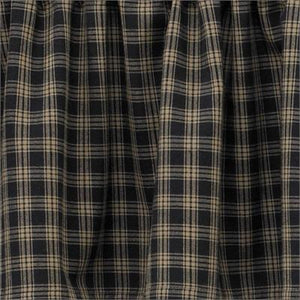 Sturbridge Black Unlined Tier Curtains 36""