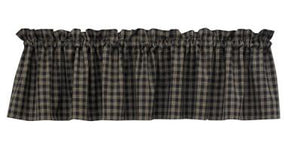 Sturbridge Black Unlined Valance 72""