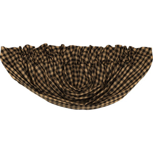 Black Check Lined Balloon Valance
