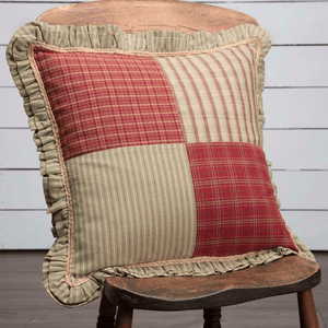 "Prairie Winds Patchwork Pillow 18"" Filled"