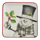 Sketchbook Snowman Salad Plate - Primitive Star Quilt Shop