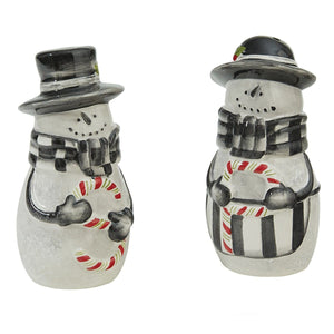 Sketchbook Snowman Salt and Pepper Set