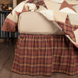 Abilene Star Bed Skirt - Primitive Star Quilt Shop