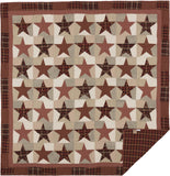 Abilene Star Quilt Queen Quilt- Primitive Star Quilt Shop