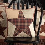 "Abilene Star Quilted Pillow 16"" Filled - Primitive Star Quilt Shop"