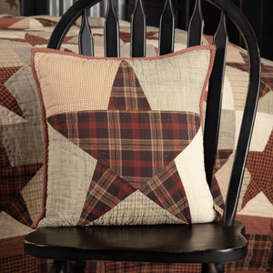 "Abilene Star Quilted Pillow 16"" Filled"