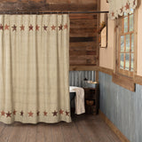 Abilene Star Shower Curtain - Primitive Star Quilt Shop