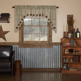 Abilene Star Scalloped Lined Swag Curtains - Primitive Star Quilt Shop