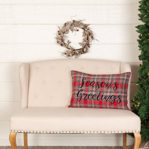 "Anderson Season's Greetings Pillow 14x22"" Filled"