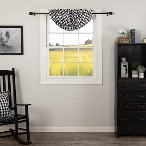 Annie Buffalo Black Check Lined Balloon Valance