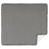Annie Buffalo Check Black Ruffled Coverlet King Coverlet- Primitive Star Quilt Shop