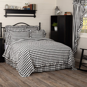 Annie Buffalo Check Black Ruffled Coverlet Bundle