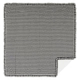 Annie Buffalo Check Black Ruffled Coverlet Queen Coverlet- Primitive Star Quilt Shop