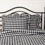 Annie Buffalo Check Black Ruffled Coverlet Bundle - Primitive Star Quilt Shop