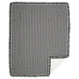 Annie Buffalo Check Black Ruffled Coverlet Twin Coverlet- Primitive Star Quilt Shop