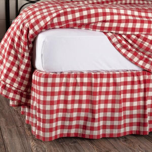Annie Buffalo Check Red Bed Skirt