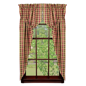 Apple Cider Prairie Curtains 63""