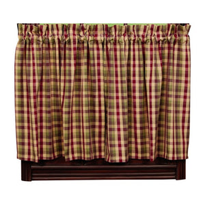Apple Cider Tier Curtains 24""