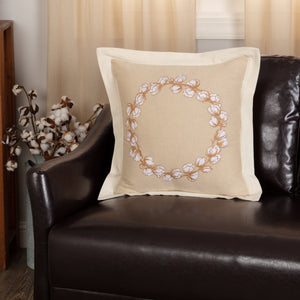 Ashmont Cotton Wreath Pillow 18""