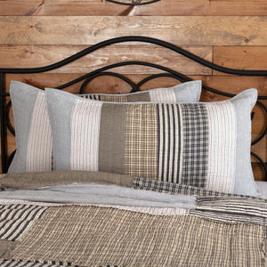 Ashmont Quilted King Sham 21x37""