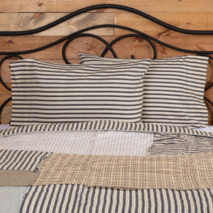 Ashmont Ticking Stripe Standard Pillow Case - Set of 2