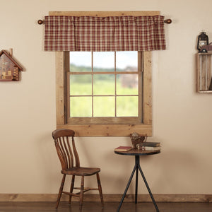 Beckham Plaid Lined Valance 60""