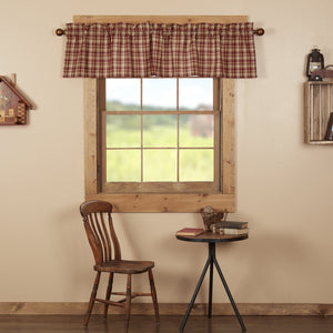 Beckham Plaid Lined Valance 72""
