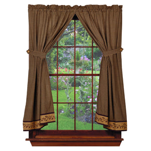 Berry Short Panel Curtains 63""