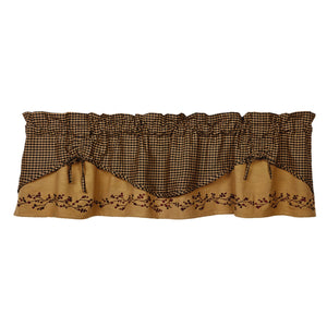 Berry Scalloped Valance 60""