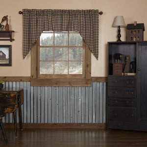Bingham Star Plaid Lined Swag Curtains