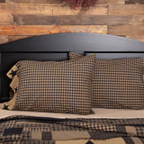 Black Check Star Standard Pillow Case - Set of 2 - Primitive Star Quilt Shop