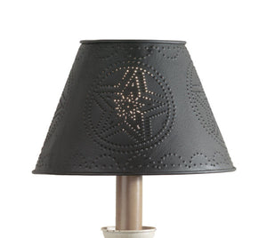 Black Star Metal Lamp Shade - 10""