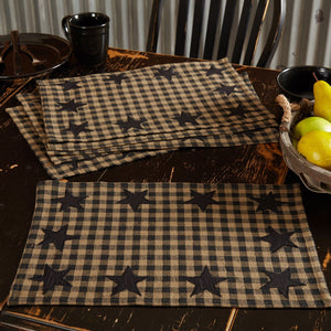 Black Star Placemat - Set of 6