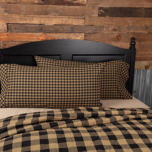 Black Check King Pillow Case - Set of 2