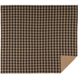 Black Check Quilted Coverlet King Coverlet- Primitive Star Quilt Shop