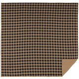 Black Check Quilted Coverlet Luxury King Coverlet- Primitive Star Quilt Shop