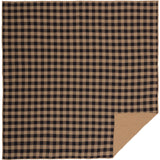 Black Check Quilted Coverlet Queen Coverlet- Primitive Star Quilt Shop
