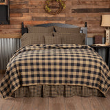 Black Check Quilted Coverlet - Primitive Star Quilt Shop