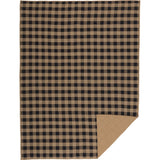 Black Check Quilted Coverlet Twin Coverlet- Primitive Star Quilt Shop