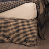 Black Check Star Bed Skirt - Primitive Star Quilt Shop