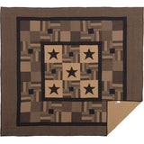 Black Check Star Quilt Bundle King Quilt, King Bed Skirt, 2 King Shams- Primitive Star Quilt Shop
