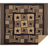 Black Check Star Quilt Bundle Luxury King Quilt, King Bed Skirt, 2 King Shams- Primitive Star Quilt Shop