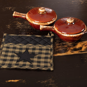Black Star Pot Holder 8""