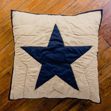 "Black and Tan Quilted Euro Sham 26x26"" - Primitive Star Quilt Shop"