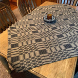 "Westbury Black and Tan Woven Table Cloth 52x52"" - Primitive Star Quilt Shop"