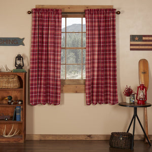 Braxton Scalloped Lined Short Panel Curtains 63""